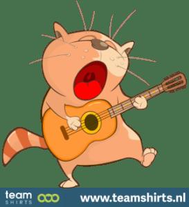 Katze spielt Gitarre