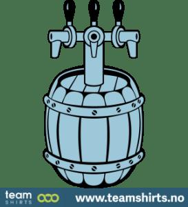 Hähne und Bierfass