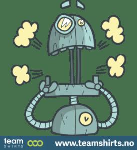 Überraschter Roboter