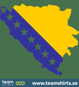 BOSNIA HERZEGOVINA SILHOUETTE COLOURED