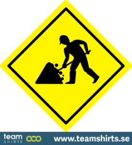 Verkehrsschild Straßenbau Bau