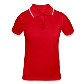 Women's Contrast Polo Shirt TS