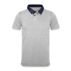 Men's Denim Polo Shirt TS