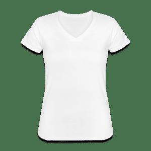 Klassisk dame T-shirt med V-udskæring