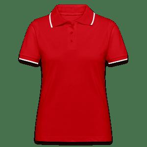 Women's Contrast Polo Shirt TS