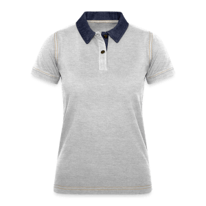 Frauen Denim Poloshirt TS
