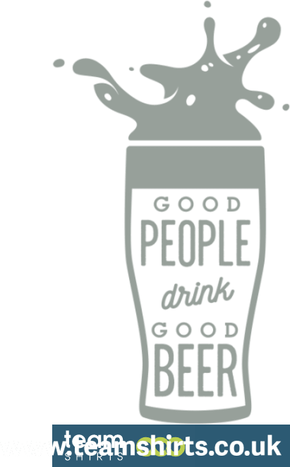GLASS OF BEER WITH TEXT
