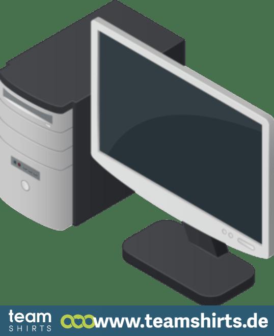 Computer und Monitor