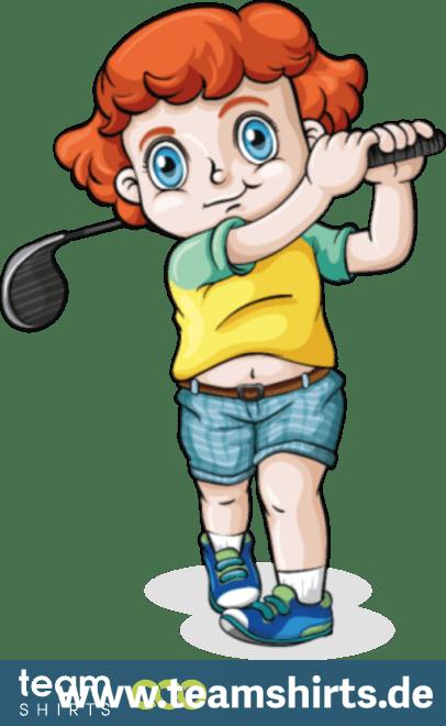 Komischer golfer