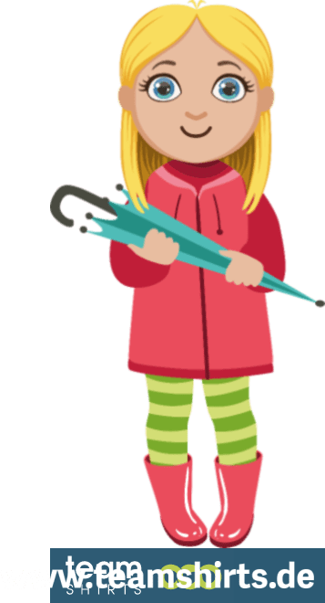 Mädchen mit einem Regenschirm