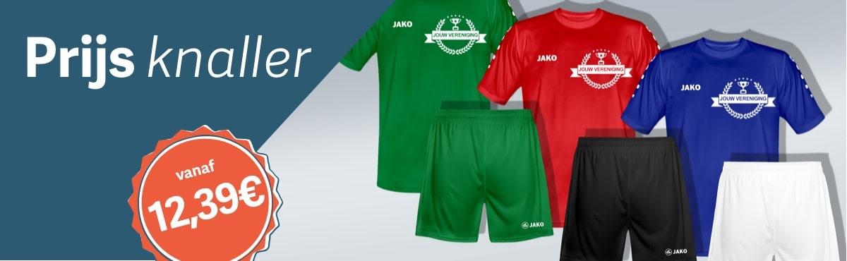 Set voetbalshirt + broek bedrukken