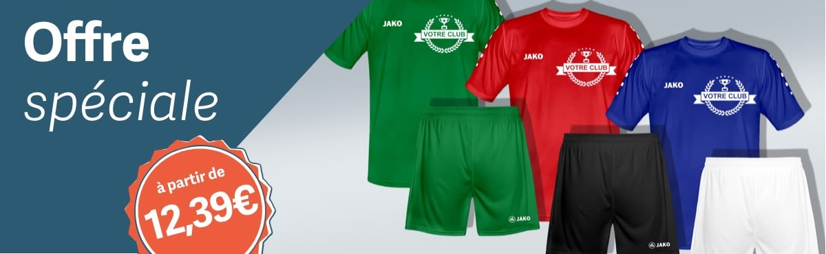 Ensemble Maillot + Short JAKO Team