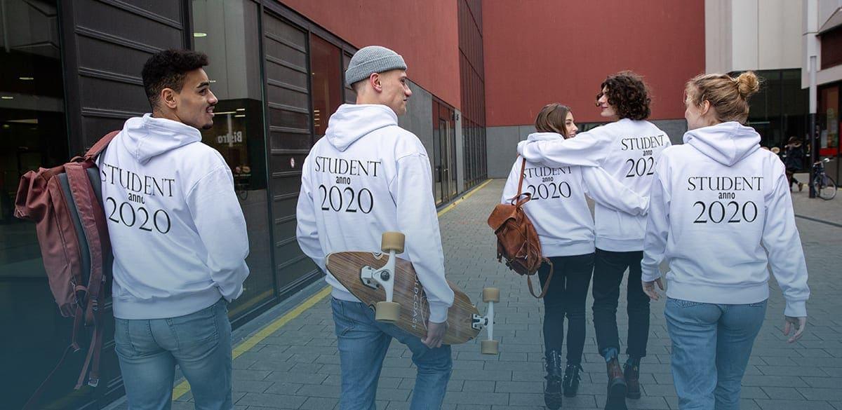 Studentertøj med eget tryk: Design nu
