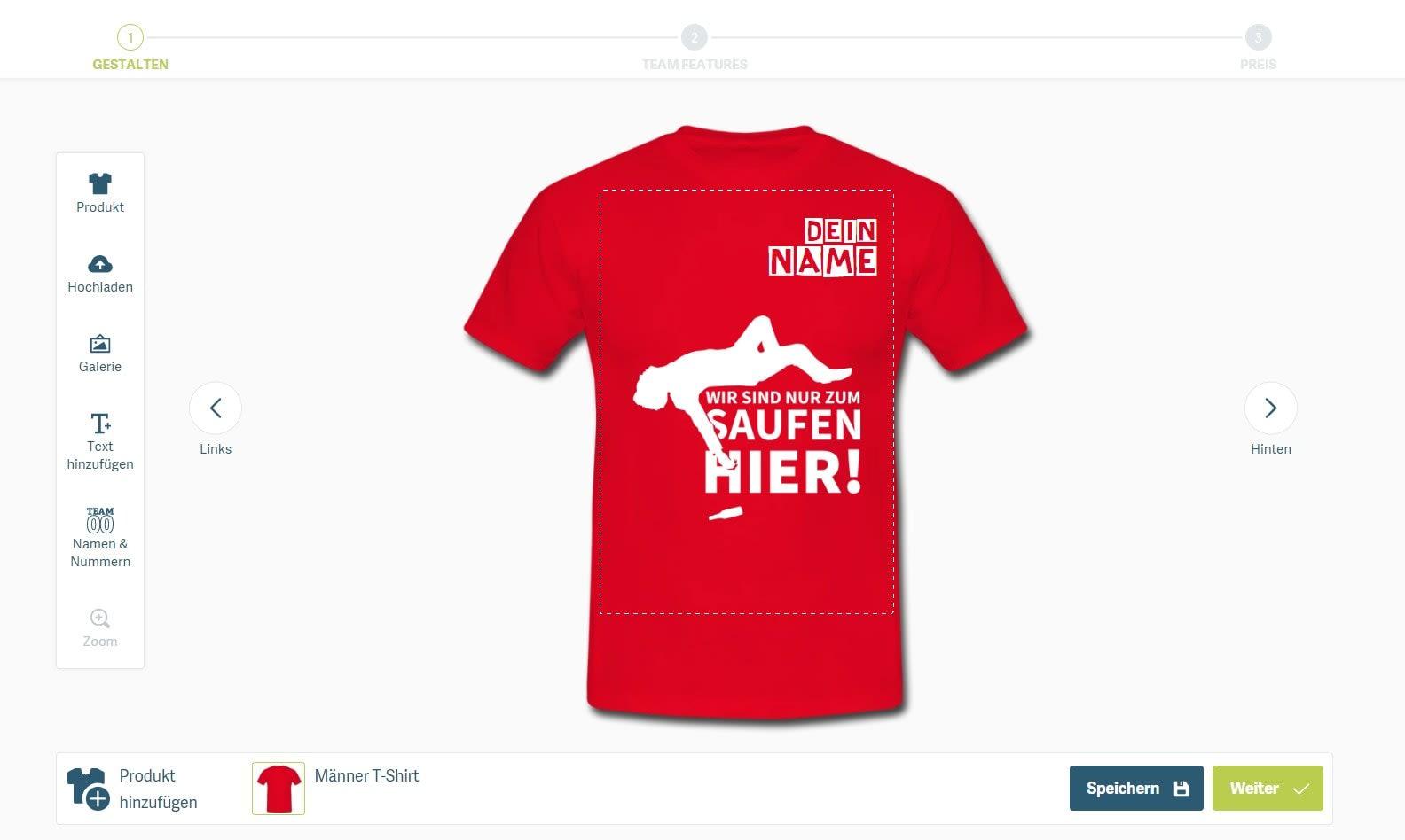Malle-Shirt mit eigenen Namen selbst gestalten