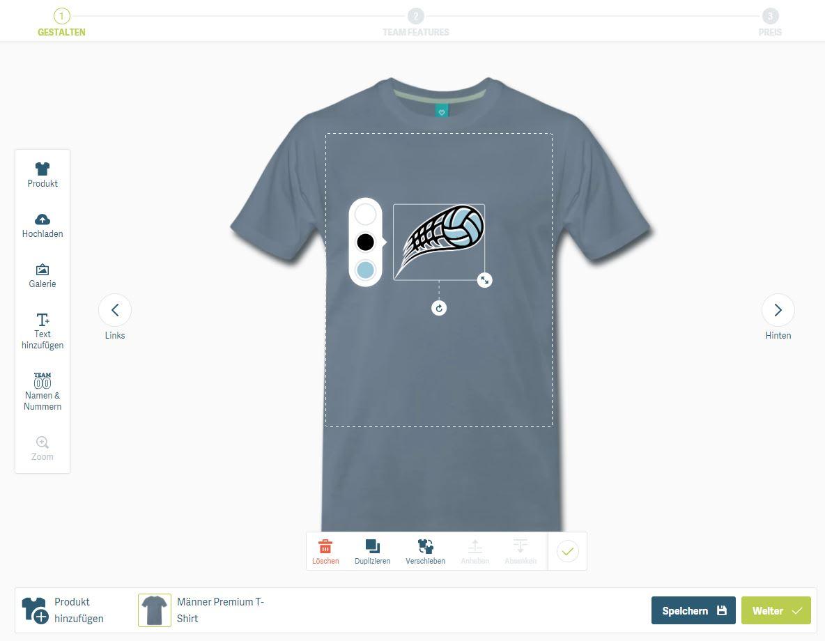 T-Shirt Druck online - T-Shirt bedrucken ab 4,00 €   TeamShirts ebdea37eac