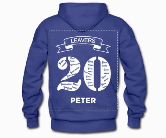 Create leavers hoodies