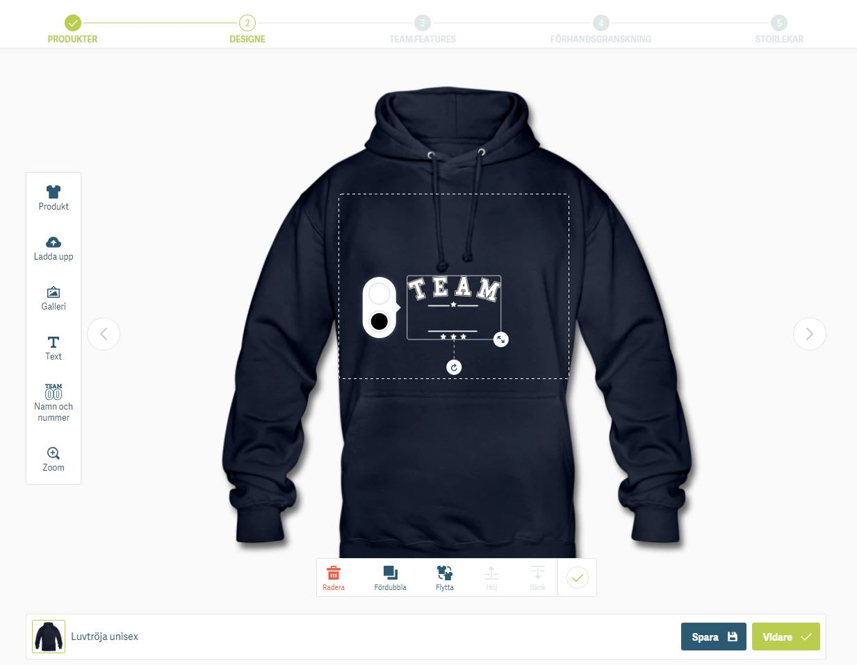 designa egen tröja