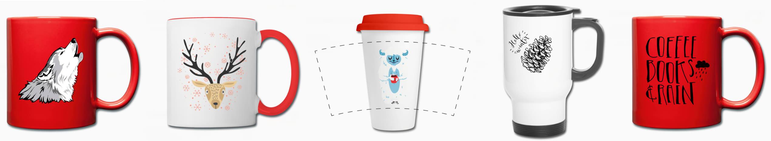kaffekopp med trykk