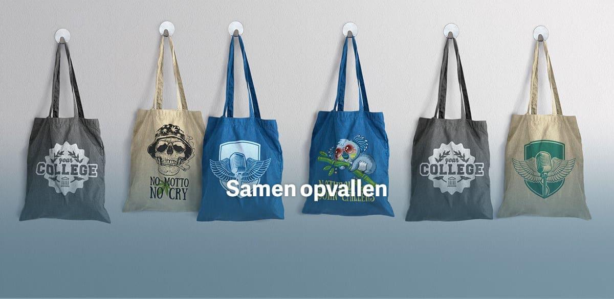 Fonkelnieuw Katoenen tassen bedrukken - stoffen tas ontwerpen | TeamShirts KL-29