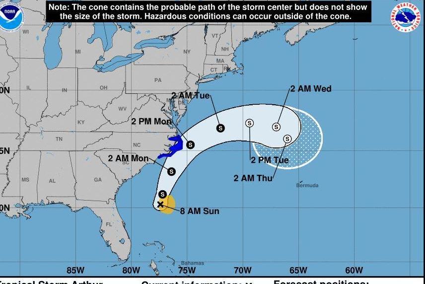Arthur first storm of 2020