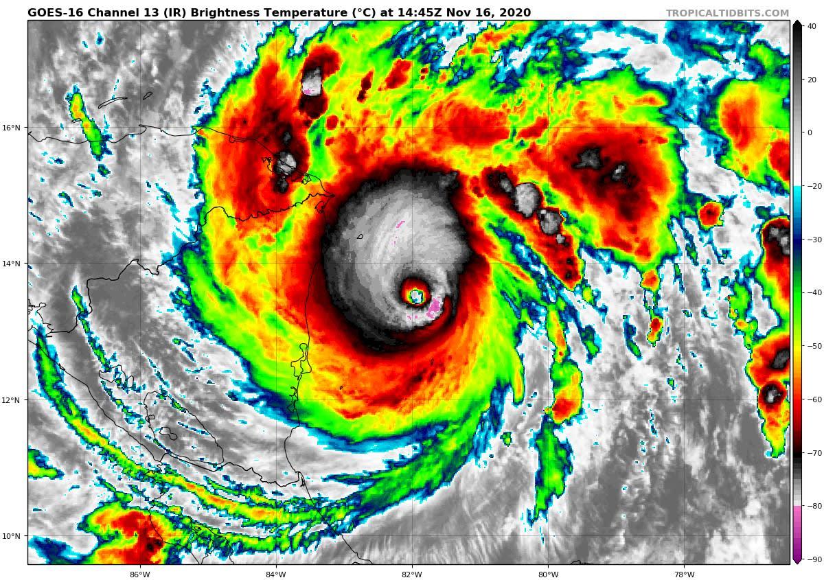 Category 5 Hurricane Iota 2020-11-16