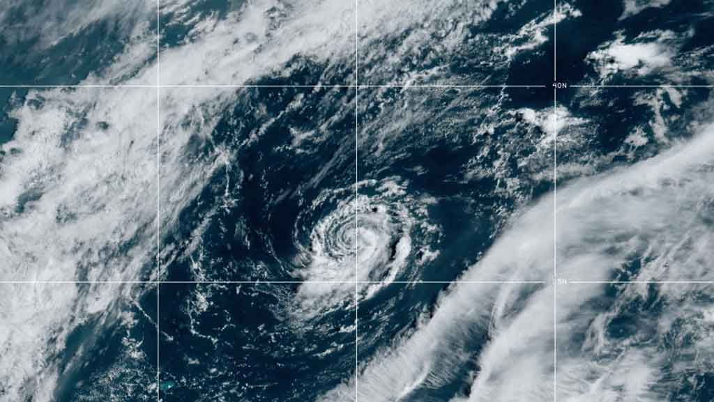 Satellite image of first storm of 2021