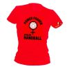 HANDBALL2GO Fun-Shirt Powerfrauen Damen / red