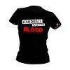 HANDBALL2GO Fun Shirt Handball im Blut Damen