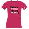 volleyball2go Fun-Shirt Endlich Wochenende Damen