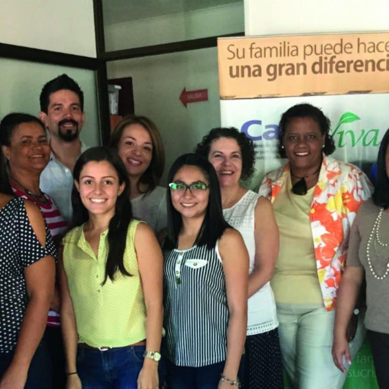 Participantes de Honduras, Panamá, Costa Rica y República Dominicana al finalizar un curso de capacitación de Casa Viva. Foto: Casa Viva