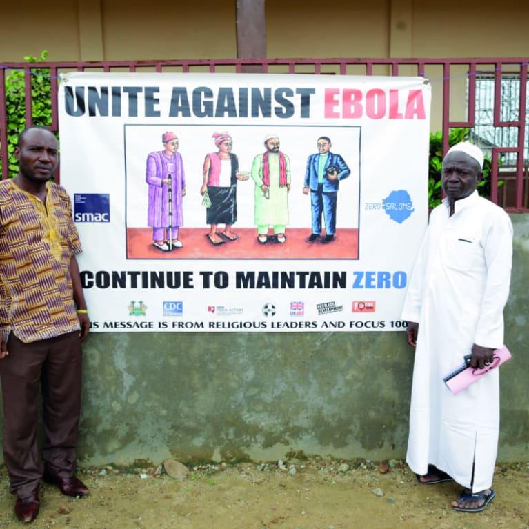 Les responsables religieux musulmans et chrétiens ont lutté ensemble contre Ebola. Photo : Layton Thompson/Tearfund