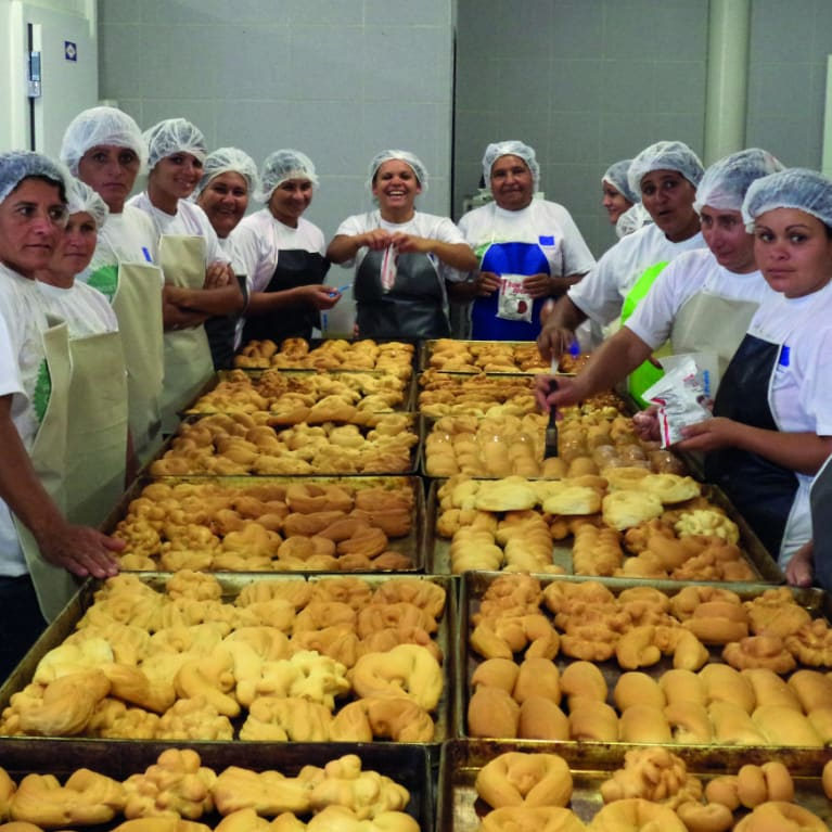 Diaconia helped women form community businesses such as bakeries. Photo: Diaconia