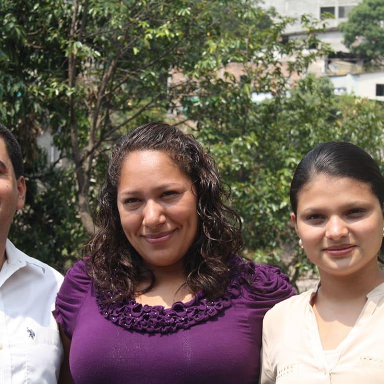 Pastor Joel's church helped young people like Jasmine (far right) take steps towards a better future. Photo: Zoe Murton/Tearfund