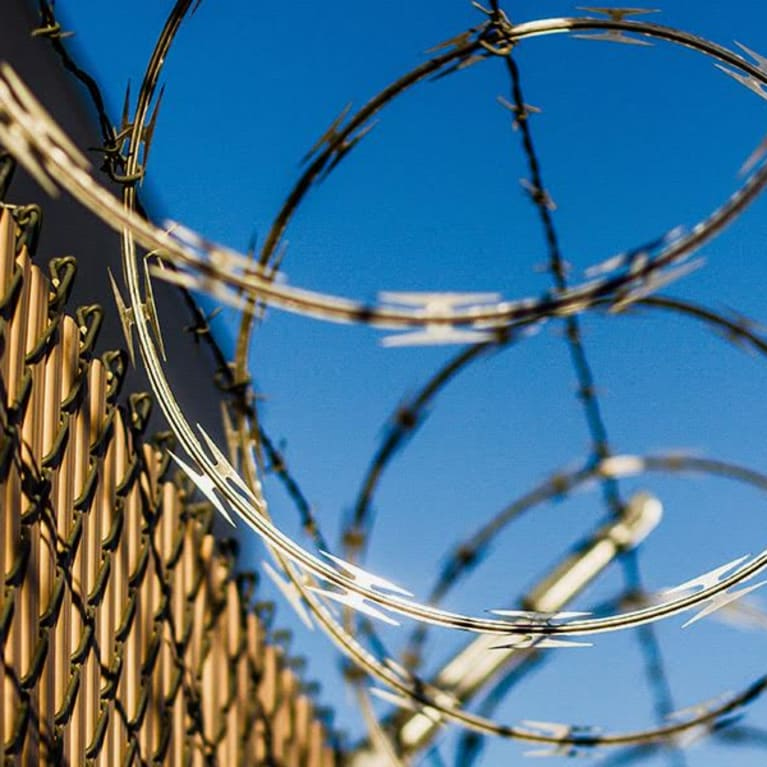 Image of barbed wire