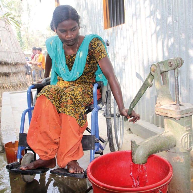 Según el modelo de Gaibandha, las personas con discapacidad desempeñan un rol principal en la reducción del riesgo de desastres. Foto: Centre for Disability in Development (CDD)