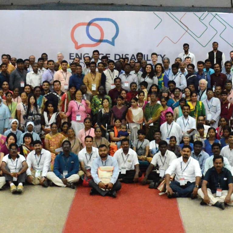 Delegados na segunda conferência nacional da Engage Disability. Foto: Engage Disability Network, Índia