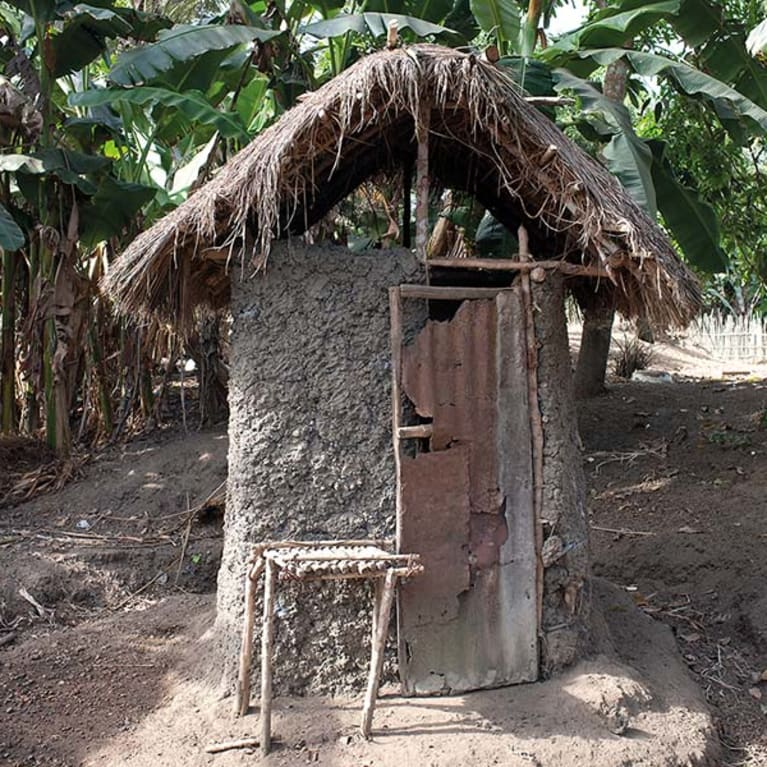 Small toilets with narrow doors can cause problems for people with limited mobility. Photo: Ralph Hodgson/Tearfund