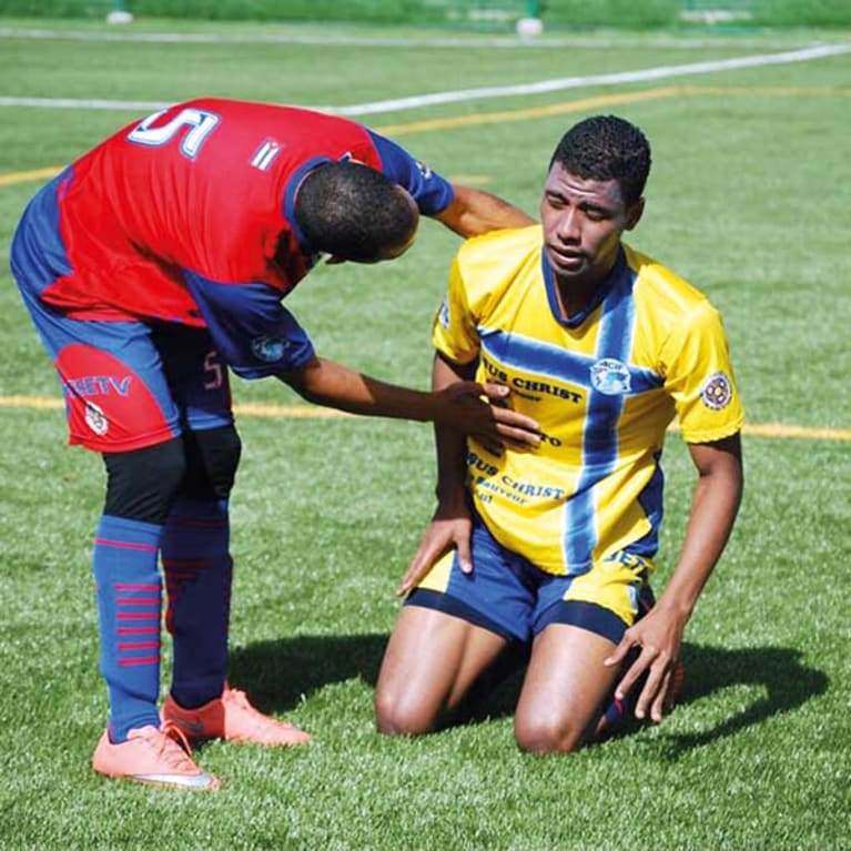 Sport provides many opportunities for young people to support each other, on and off the pitch. Photo: Asociación Cristiana Deportiva, Colombia