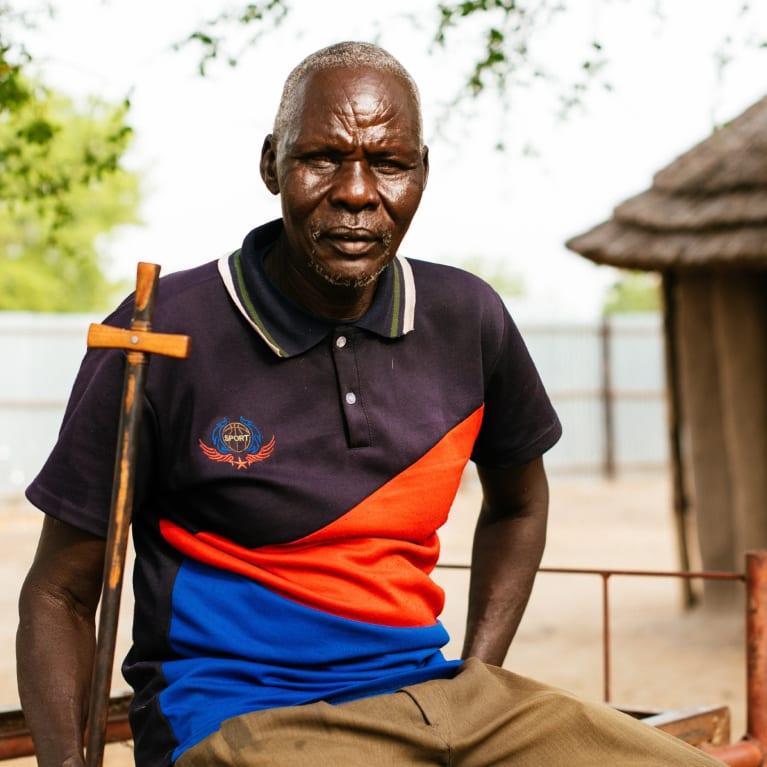 O Reverendo Moses e sua comunidade no Sudão do Sul têm estado muito empenhados no processo de construção da paz após o treinamento oferecido pela organização parceira da Tearfund, UCWA. Foto: Tom Price/Tearfund