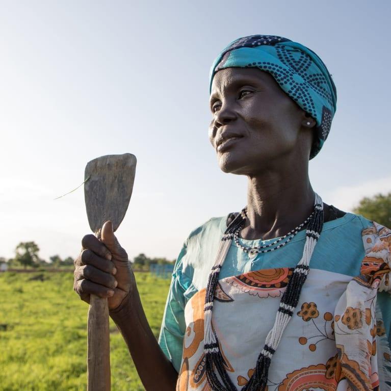 Participante de um projeto de escola de campo agrícola, no Sul do Sudão. Foto: Will Swanson/Tearfund
