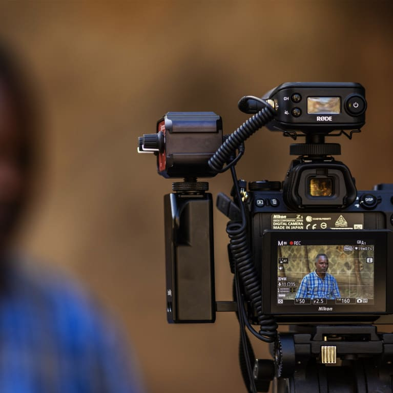A programme director being interviewing in Ethiopia.