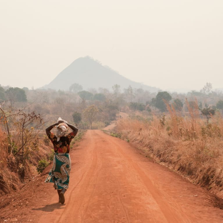 The road to a village in Balaka, Malawi.