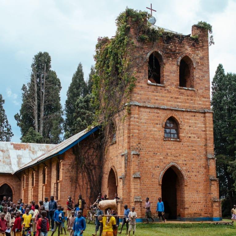 La cathédrale St Pierre dans le diocèse de Matana, au Burundi.
