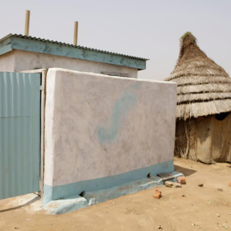 An example of latrine construction in South Sudan, 2011. Photo: Layton Thompson/Tearfund