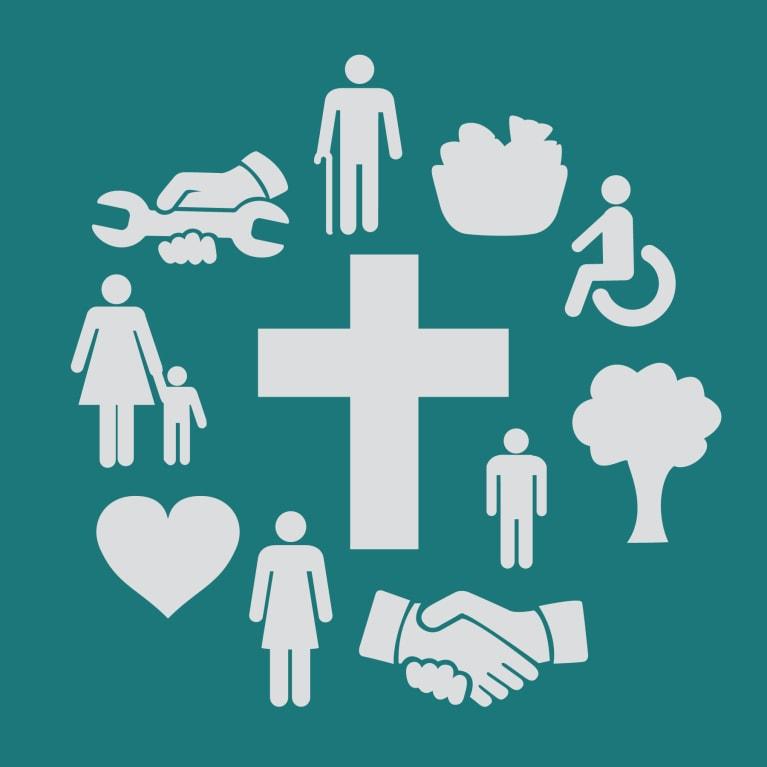Ilustración que muestra distintas maneras en que la misión se integra en la vida cotidiana
