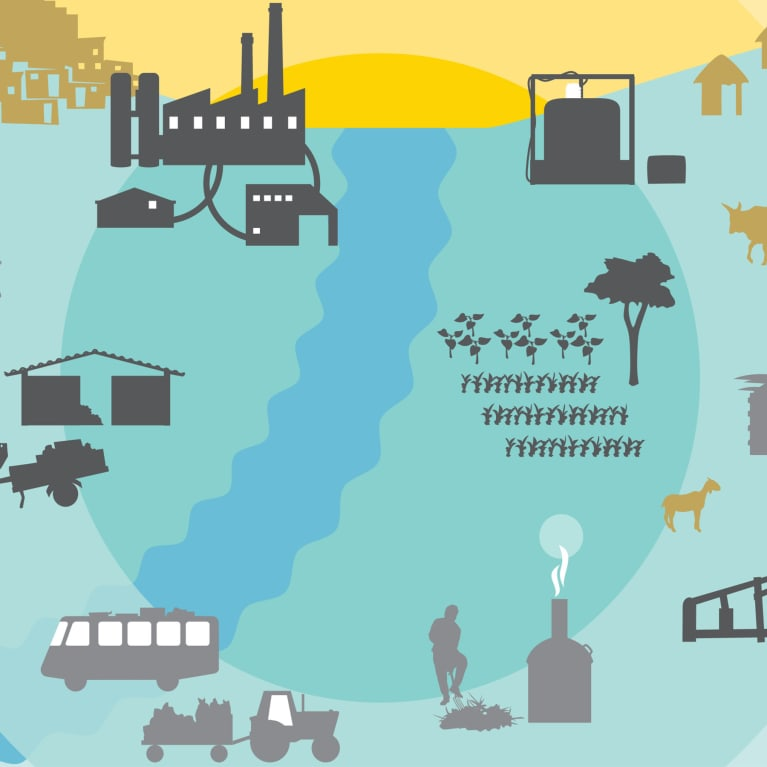 Illustration of the most promising circular economy interventions in developing countries.