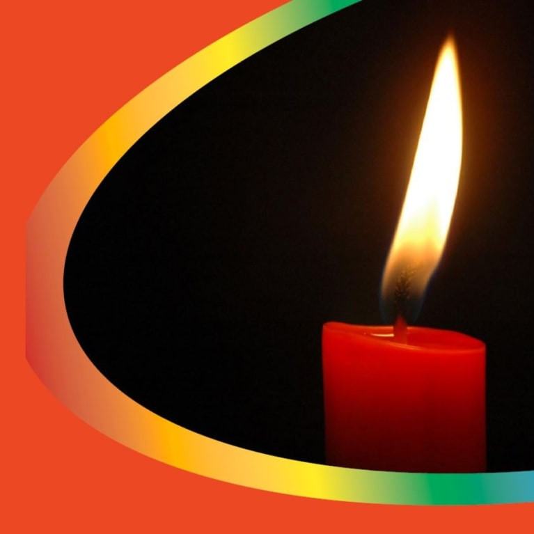 Cover image of a  burning candle