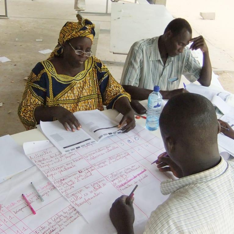 Organizaciones socias de Tearfund en Chad trabajan juntas para desarrollar las capacidades de sus comunidades. Foto: Lui Lui