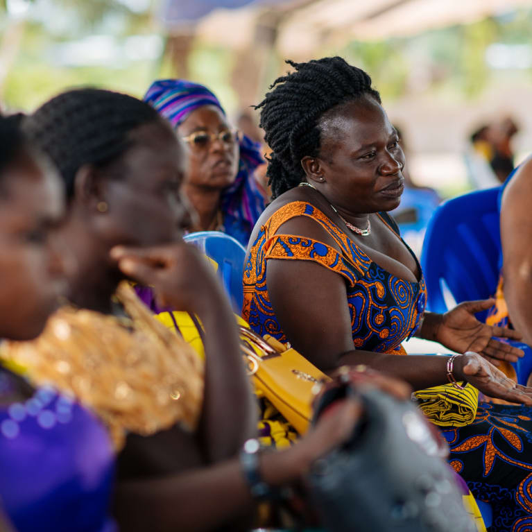 The community in Diégonefla, Côte d'Ivoire, is mobilising into action with help from the local church