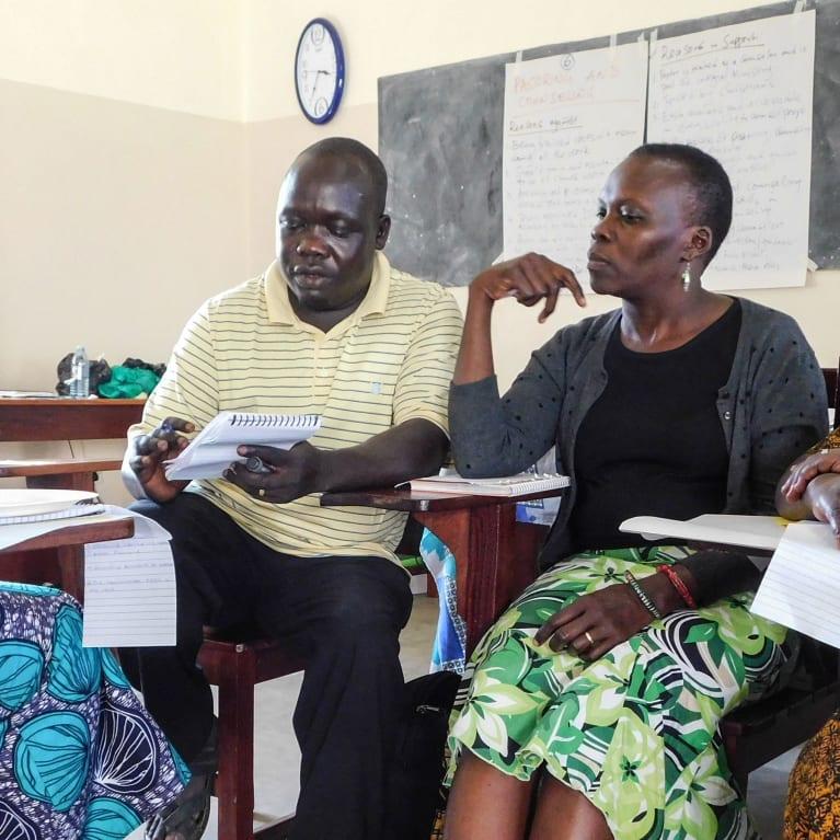 Taller en el norte de Uganda con Asambleas Pentecostales de Dios y otras organizaciones e iglesias cristianas que trabajan en los campamentos de refugiados Foto: Stephen German/Tearfund